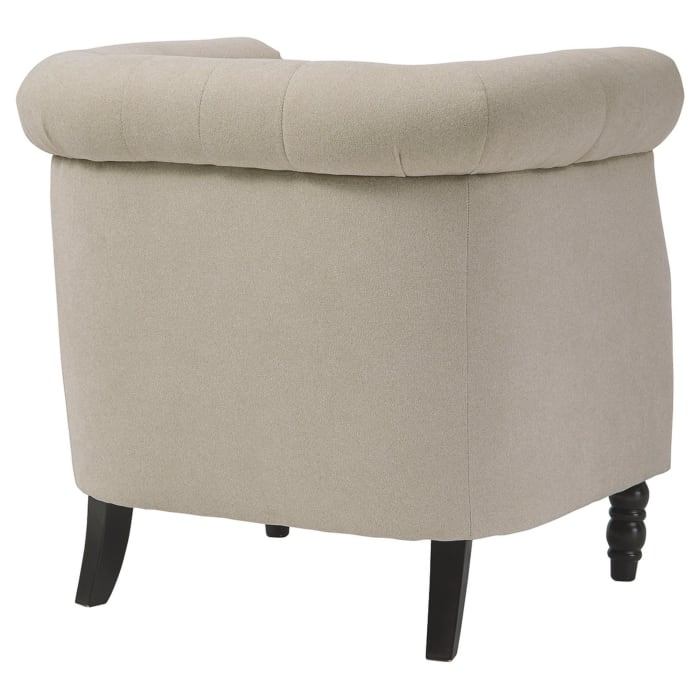 Beige Chesterfield Accent Chair