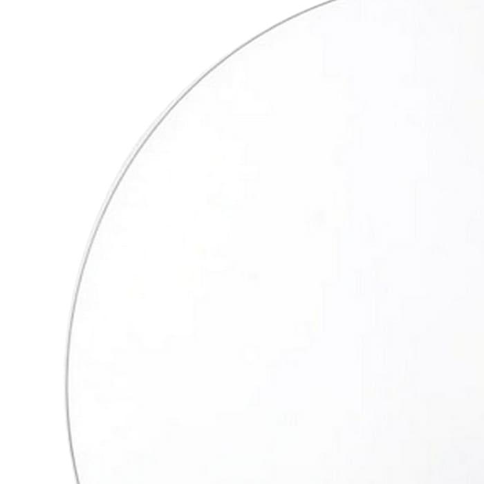 31.5 Inch Mid Century Modern Brown and Silver Round Mirror