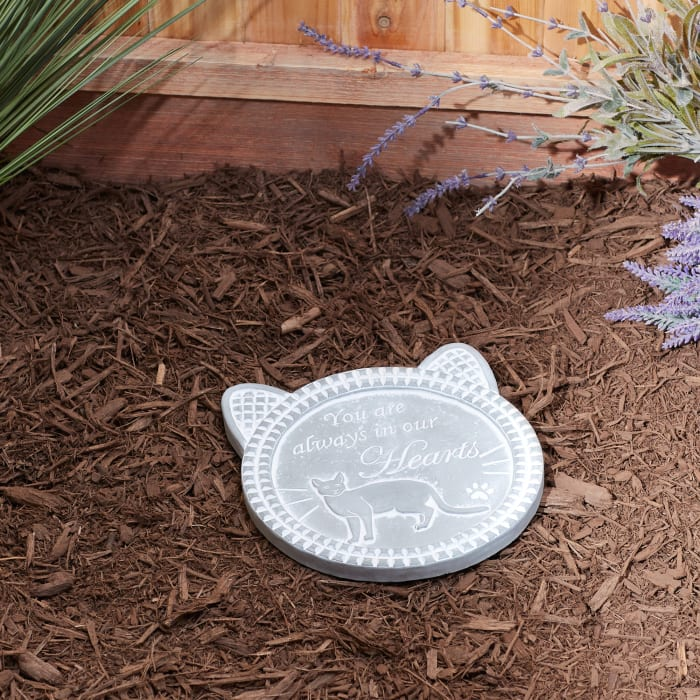 You Are Always In Our Hearts Cat Memorial Stepping Stone