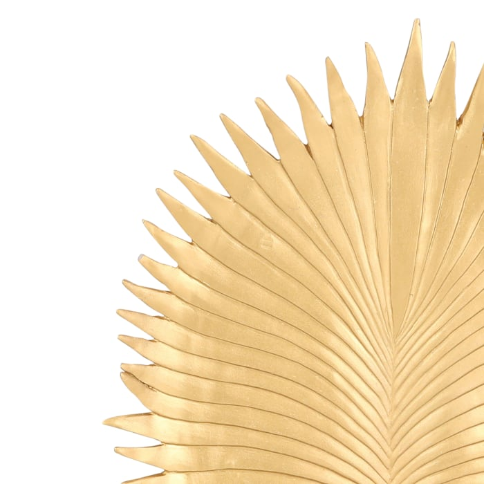 Palm Leaf with Block Stand Figurine