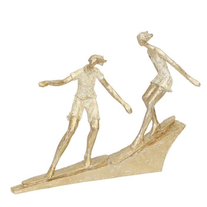 Surfing Couple Statuette