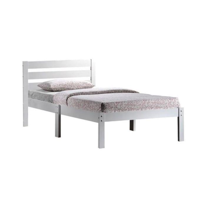 Popular White Wood Slat Twin Size Bed