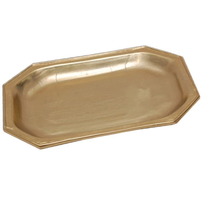 Gilded Textured Serving Gold Finish Tray