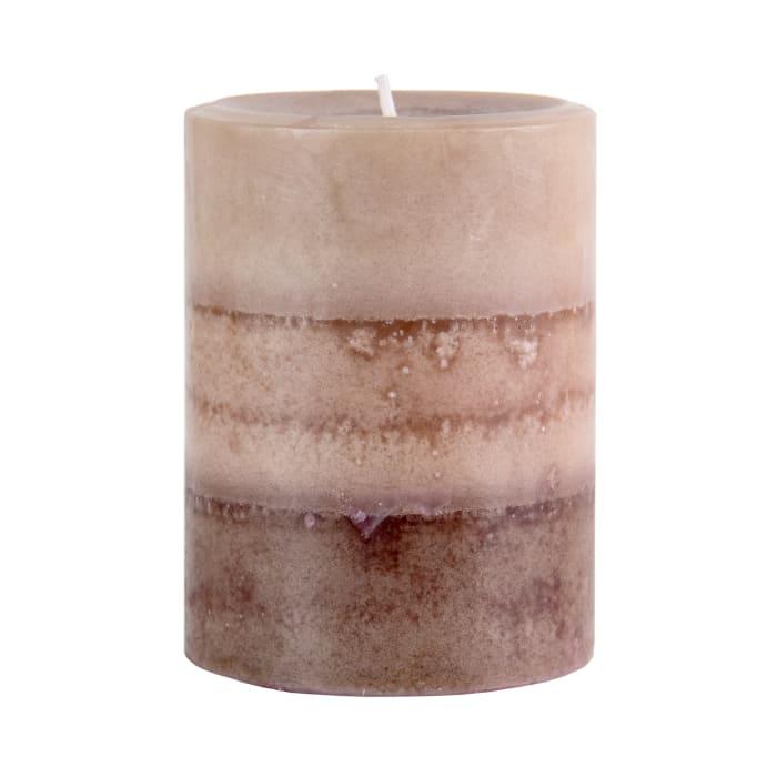 Pier 1 Cuban Vanilla 3x4 Layered Pillar Candle