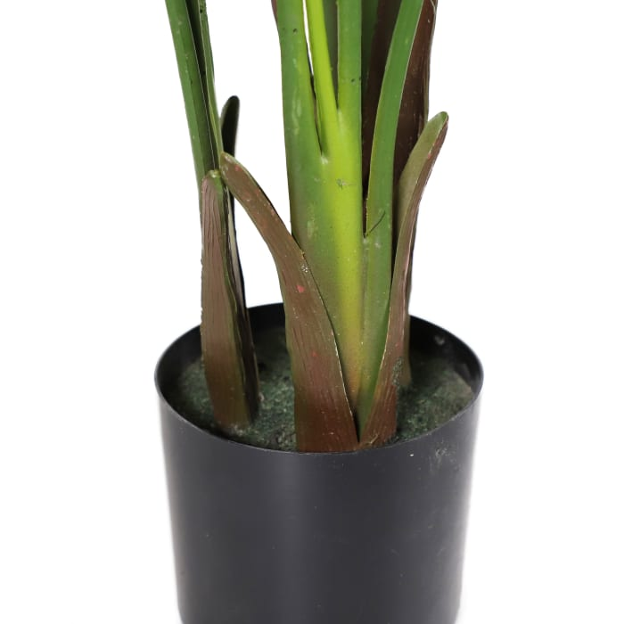 Artificial Travellers Palm with 10 Leaves in Black Plastic Pot