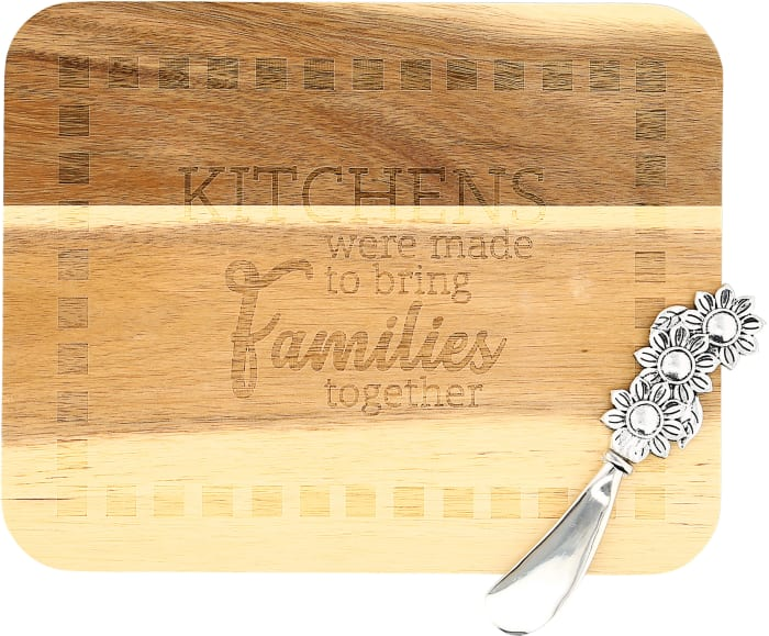 Family Acacia Serving Board with Spreader