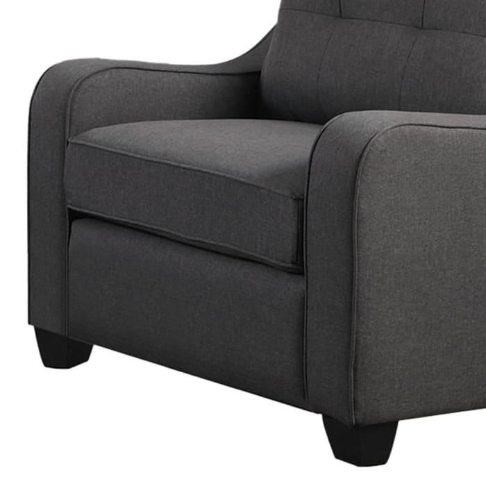 Gray Fabric Block Leg Chair