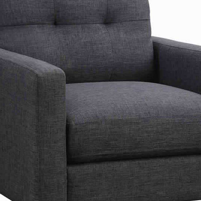 Gray Fabric Track Arm Chair