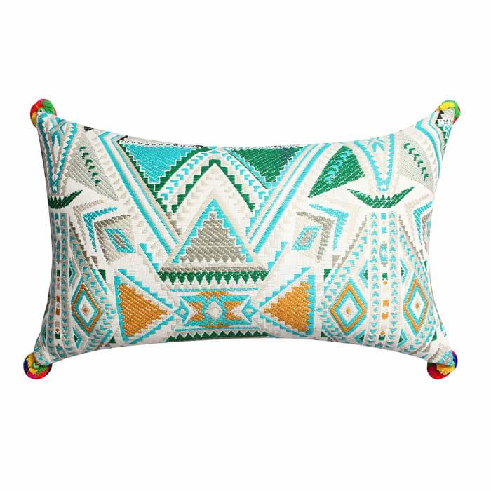 Geometric Hand Woven Dhurri Pillow