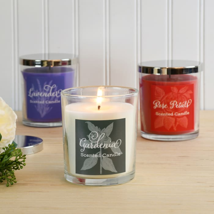 Floral  Scented Set of 3 Candle Collection