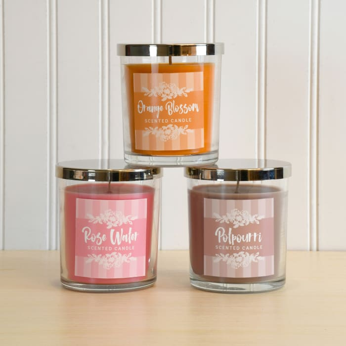 Aromatherapy Scented Set of 3 Candle Collection