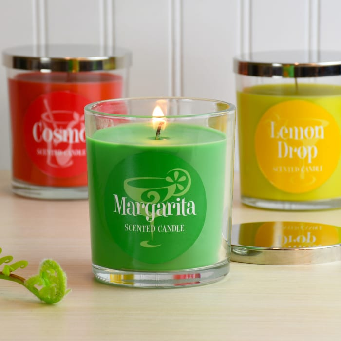 Cocktail Scented Set of 3 Candle Collection