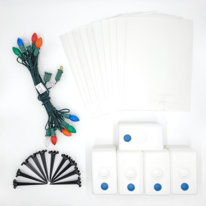 Electric Multicolor with LumaBases Set of 10 Luminaria Kits