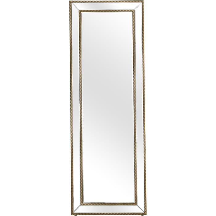 Gold Beaded Freestanding Mirror