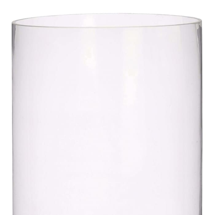 Thick Cylindrical Shape Glass and Open Top Clear Vase