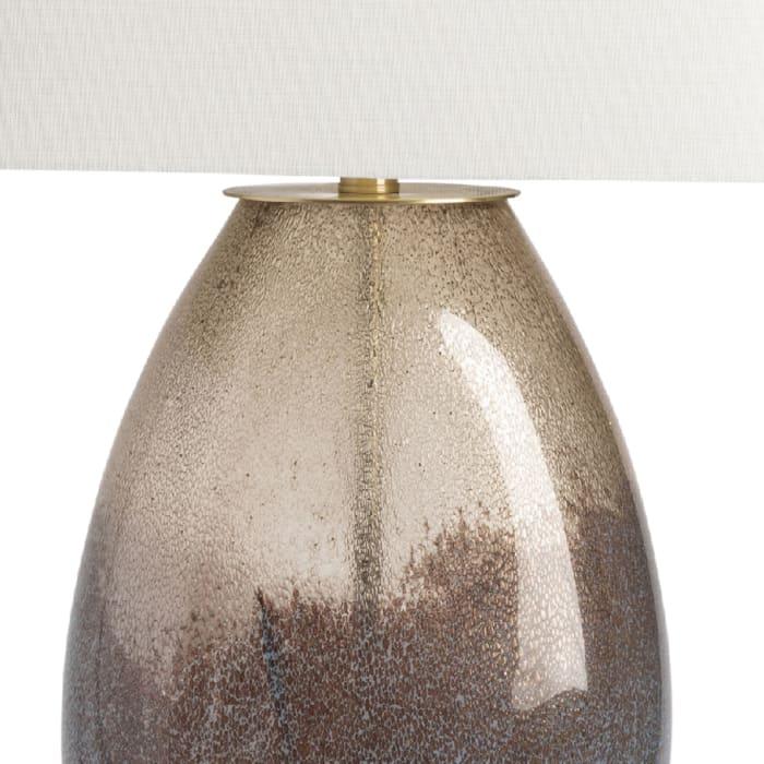 SilasBronze Glass Table Lamp