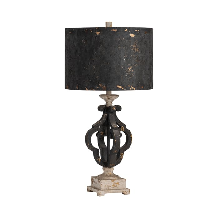 Tavish Distresssed Quatrefoil Table Lamp
