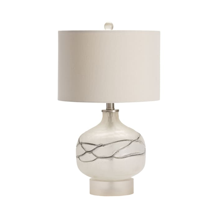 King Hand Blown Glass Table Lamp