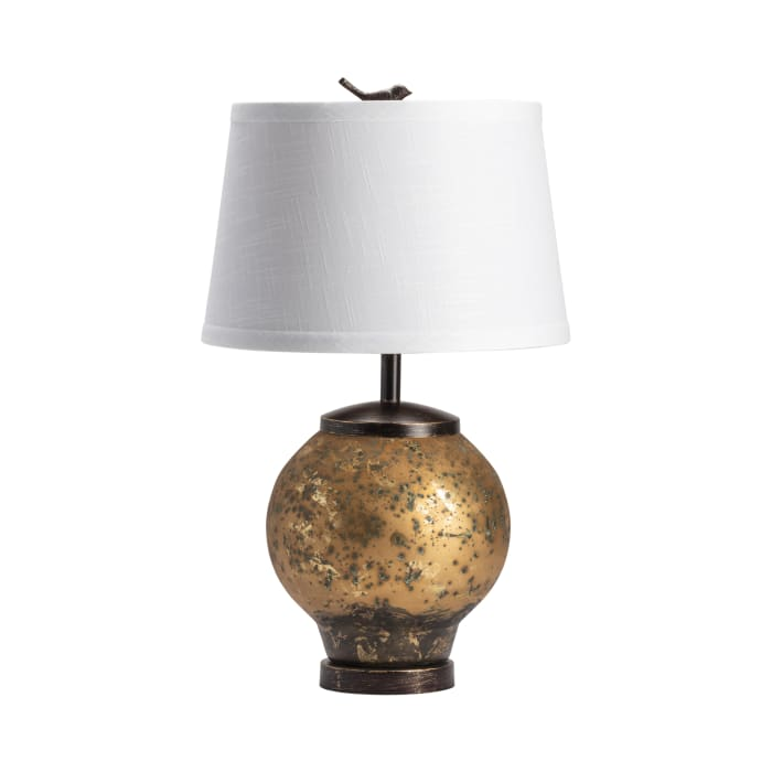 Zayd Rustic Metal  with Bird Finial Table Lamp