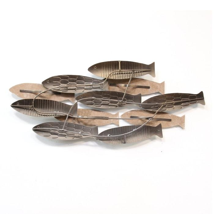 School of Fish Wood & Metal Wall Decor