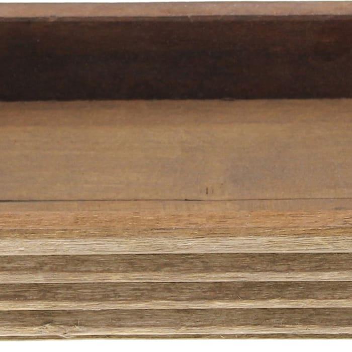 Rectangular Brown Wooden Tray