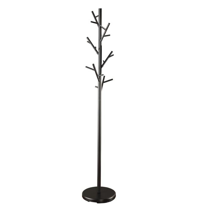 Shiny Twig Style Metal Black Coat Rack