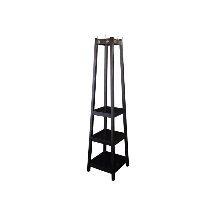 Wooden Black Coat Rack