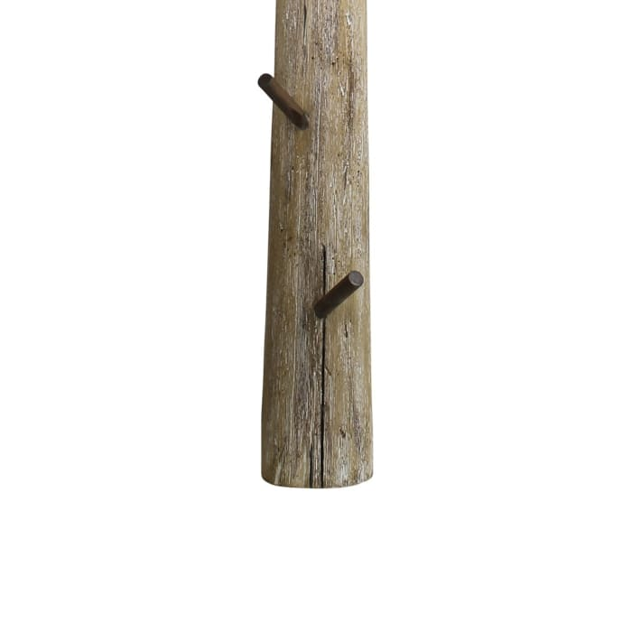 Wooden Frame and 5 Pegs Brown Wall Hook