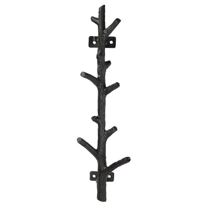 Tree Branch Shape Metal Black Hook
