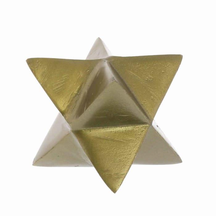 Modern Designed 8 Point Star Gold Sculpture