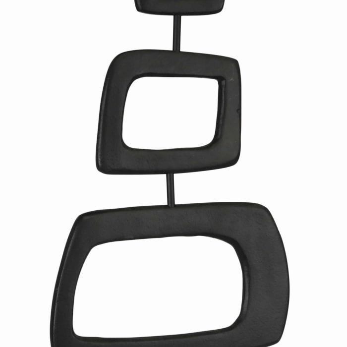 Industrial 3 Square Black Sculpture
