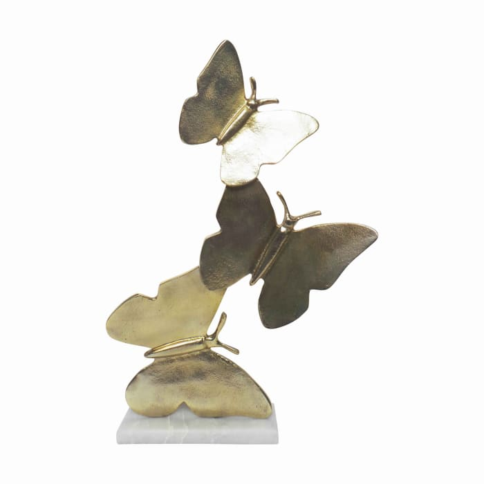 Stacked Design 3 Butterfly Sculpture