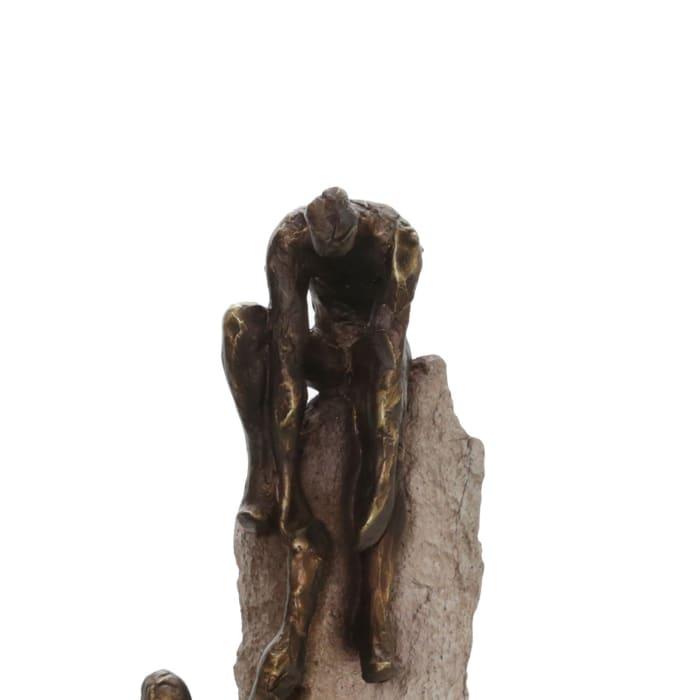 Human Rock Climbing Sculpture
