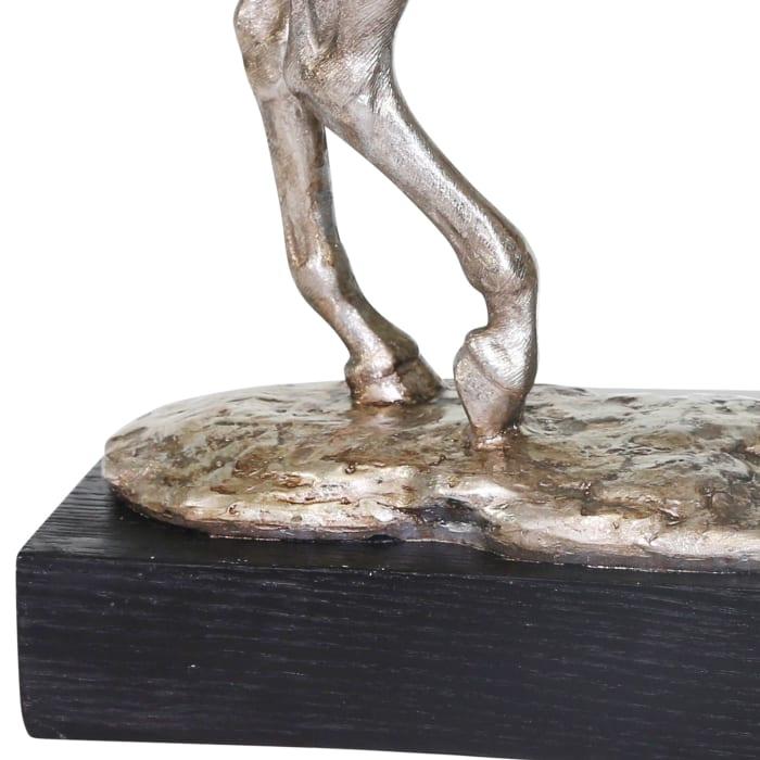 Horse Silver Sculpture