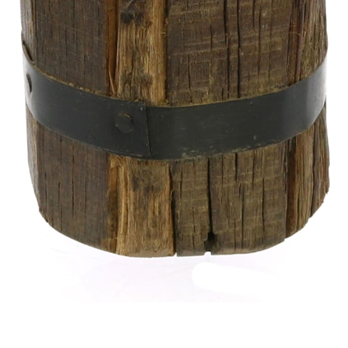 Wood Bundle with Metal Band Sculpture