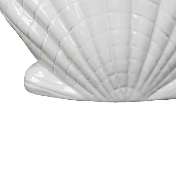 Seashell White Set of 2 Sculptures