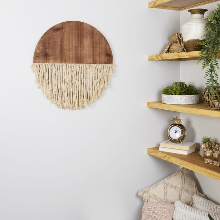 Semi Circle Macrame Wooden Wall Decor