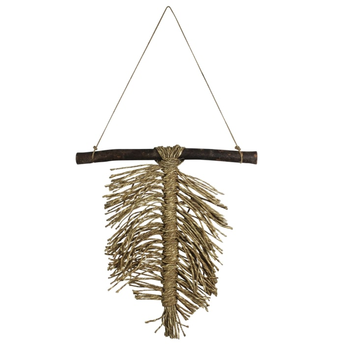 Seagrass and Acacia Leaf Wall Hanging