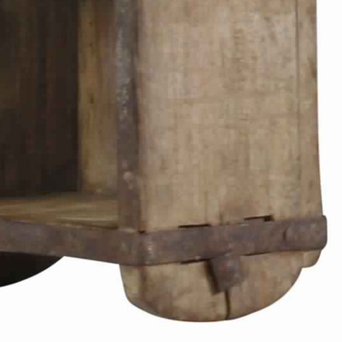 Brown Wooden Brick Mold Design Wooden Shelf