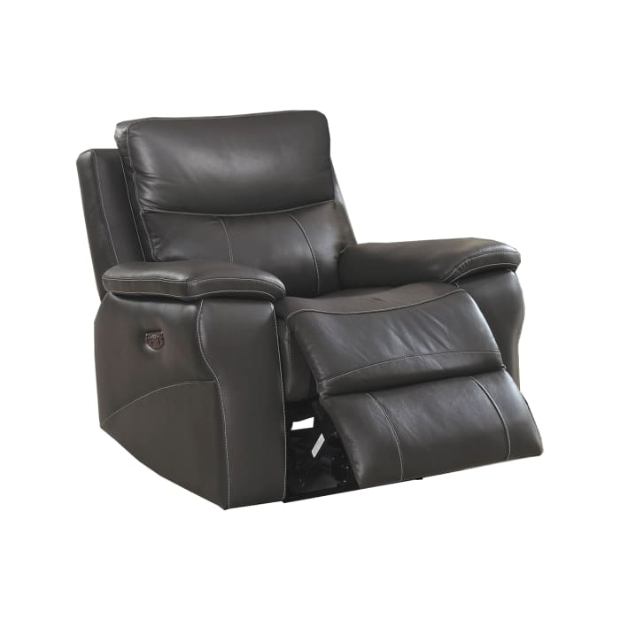 Faux Leather Gray Recliner