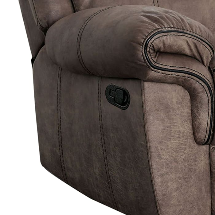 Faux Leather Brown Recliner Chair