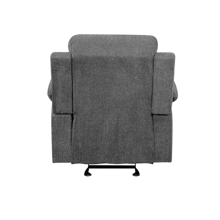 Fabric Upholstered Gray Recliner Chair