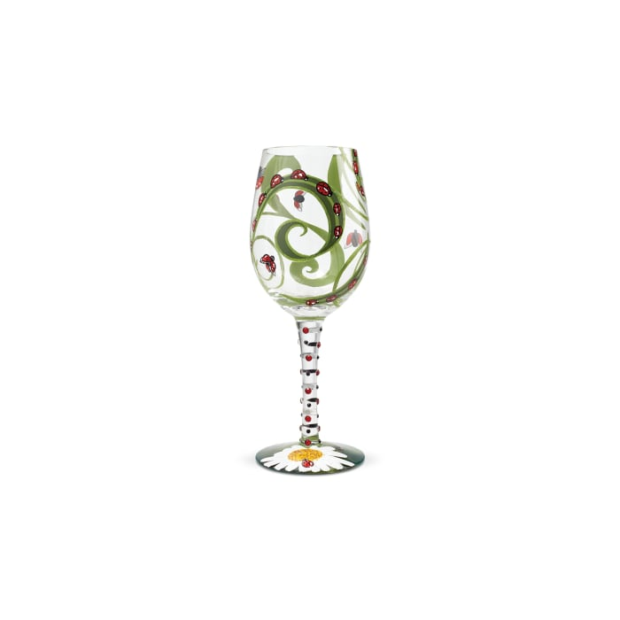Ladybug Wine Glass