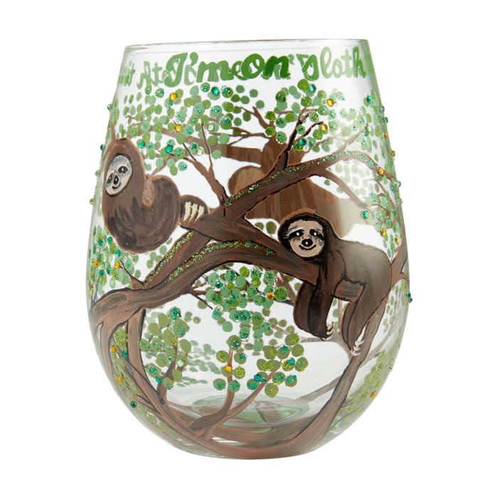 Stemless Sloth Time glass