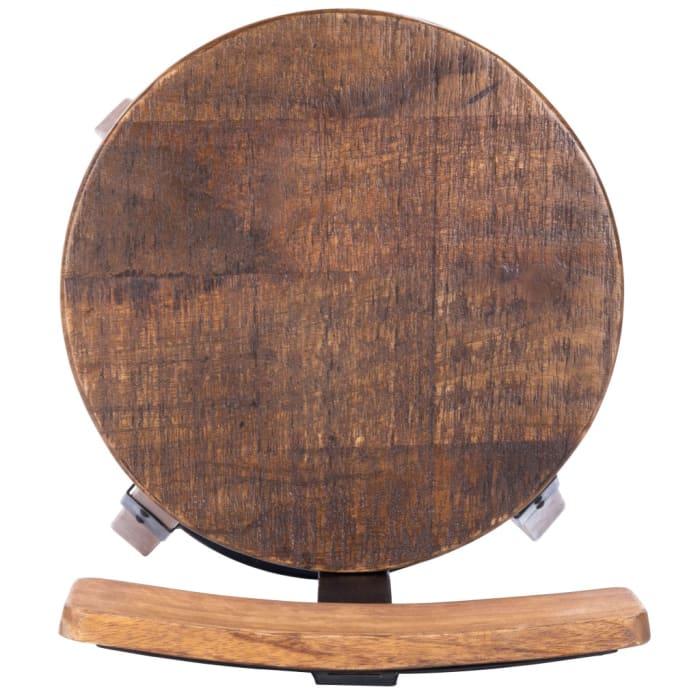 Sturdy Wood and Metal Bar Stool
