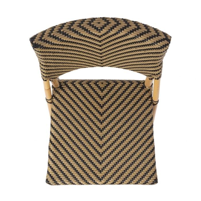 Zig Zag Rattan Outdoor Dining Chair