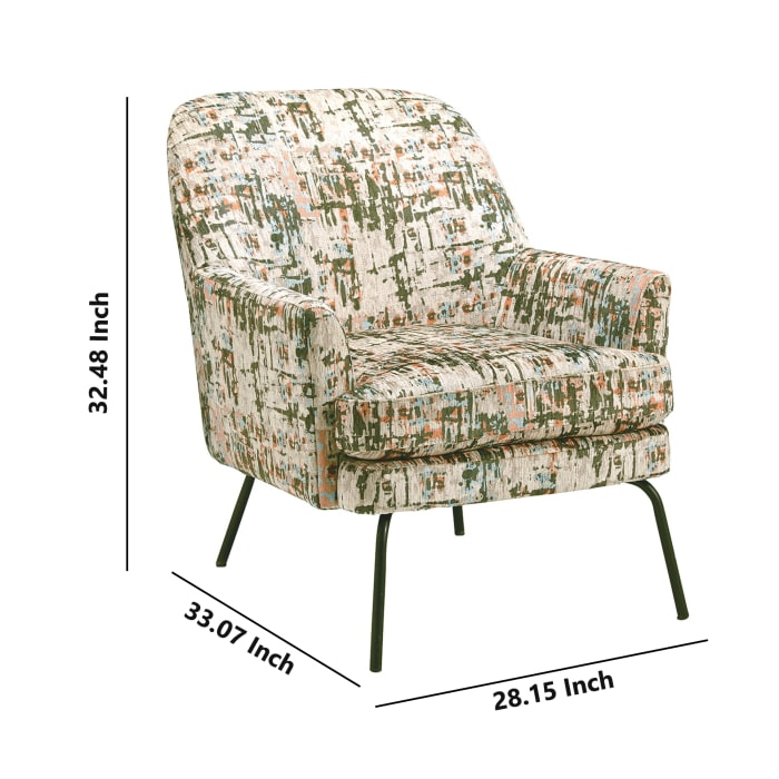 Abstract Pattern Accent Chair