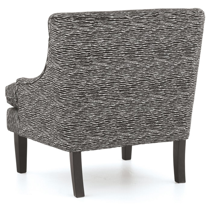 Black Wave Pattern Accent Chair