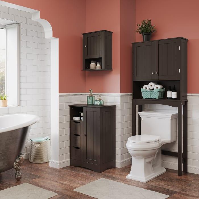 Ashland Espresso Single Door Wall Cabinet