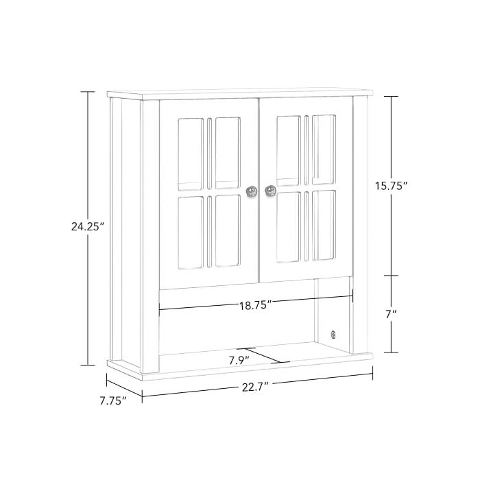Danbury Two Door Wall Cabinet - White